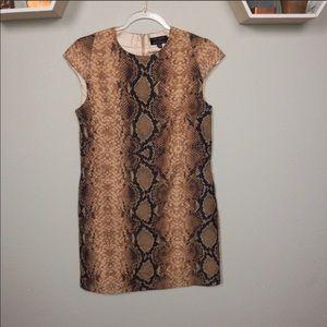 Ted baker snake print shift dress size 2